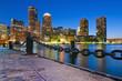 Leinwandbild Motiv Boston Skyline