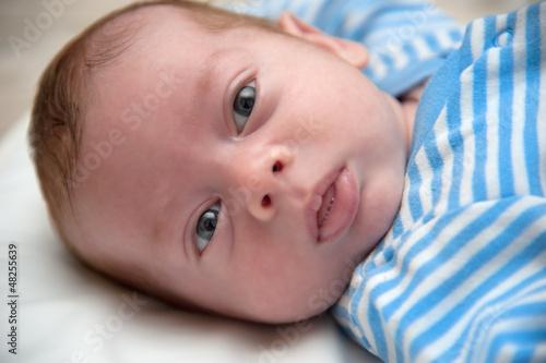 Baby boy lying down