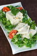 terrine de noix de saint jacques sur lit de salade 1