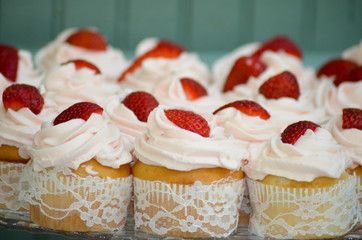 Fruit Top Cupcakes