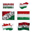 Hungarian flag collage