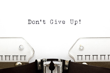 Typewriter Do Not Give Up