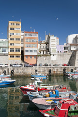 Boats at the Pier of Malpica