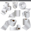 Toilet Paper Set on white