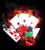 Hot poker game concept