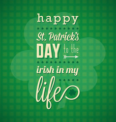 Happy St. Patrick's Day Card and Background