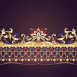 decorative golden floral ornate border element