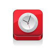 Clock icon app button