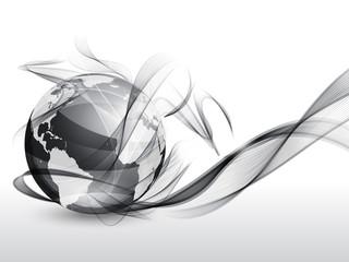 Globe and smoke