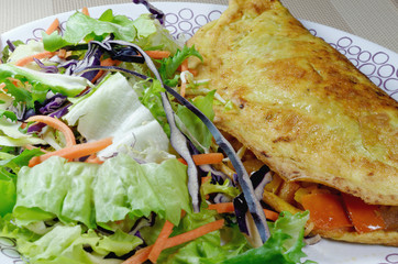 Omelette with Fresh Side Salad