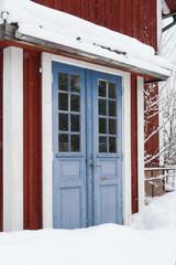 Haustür in Småland, Schweden