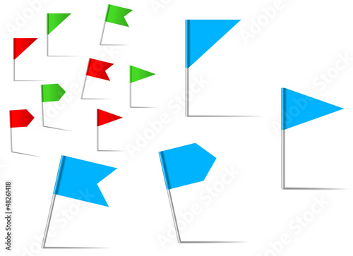 Pin flags for navigation and location service