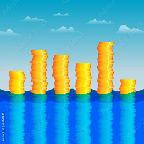 Coins in the Water