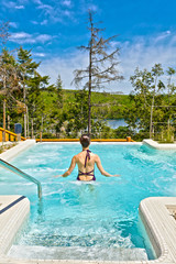 spa of sacacomie hotel lake in quebec canada