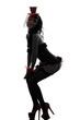sexy woman stripper showgirl  silhouette