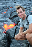 Hawaii: Hiker seeing lava