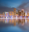 Miami Florida buildings panorama with reflection