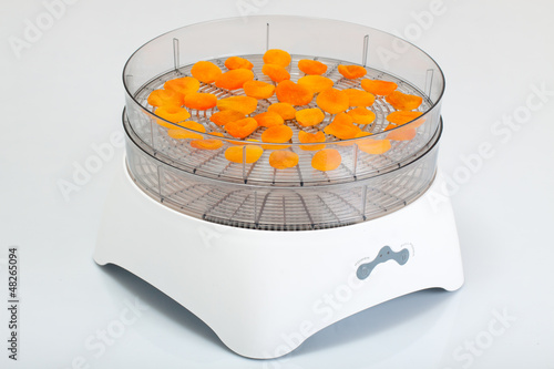 Food dryer with Dried Apricots