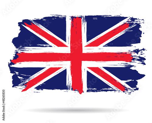 british flag grunge british flag grunge brush stroke watercolor