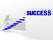 3d man climbs the ladder of success
