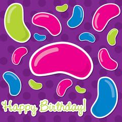 Jelly Bean Happy Birthday Card