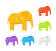 Origami elephants, set