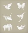 Origami set, white - 48266649