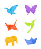 Fototapety Origami set, multicolored