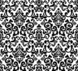 Black seamless pattern, silhouette
