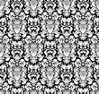 White seamless pattern, silhouette
