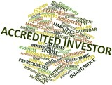 Word cloud for Accredited investor poster