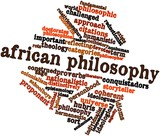 Word cloud for African philosophy poster