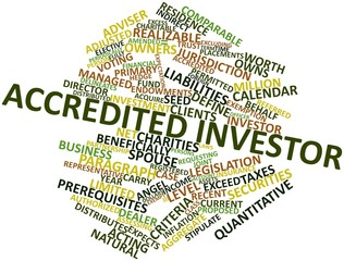Word cloud for Accredited investor