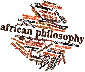 Word cloud for African philosophy