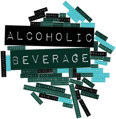 Word cloud for Alcoholic beverage
