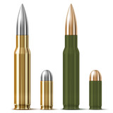 Rifle and pistol bullets