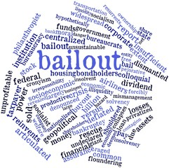 Word cloud for Bailout