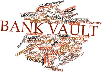Word cloud for Bank vault