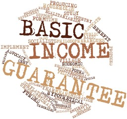 Word cloud for Basic income guarantee