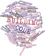 Leinwandbild Motiv Word cloud for Building code