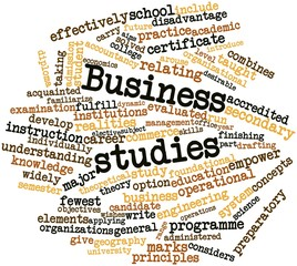 Word cloud for Business studies