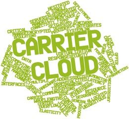 Word cloud for Carrier cloud