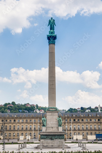 Jubilee Column at Castle Square in Stuttgart, Germany