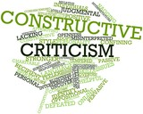 Word cloud for Constructive criticism poster