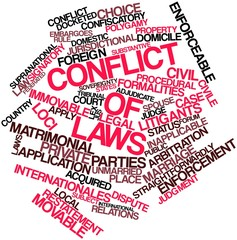 Word cloud for Conflict of laws