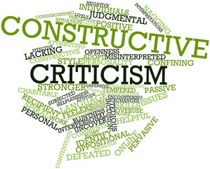 Word cloud for Constructive criticism
