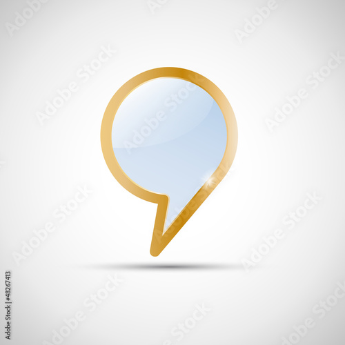 Golden Cover speech # Vector