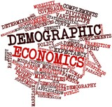 Word cloud for Demographic economics