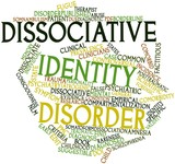 Word cloud for Dissociative identity disorder poster