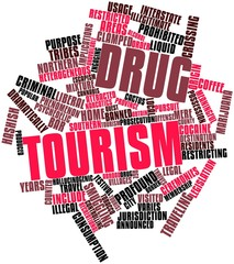 Word cloud for Drug tourism